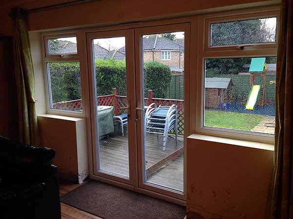 Installing bifold doors upvc bifold doors installed for Patio window replacement